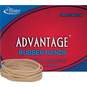 "Alliance Rubber Advantage Rubber Bands - Size: 33 - 3.5"" Length x 0.12"" Width - Biodegradable - 1 Box - Natural"