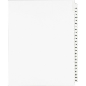 Avery Legal Exhibit Reference Divider AVE01339