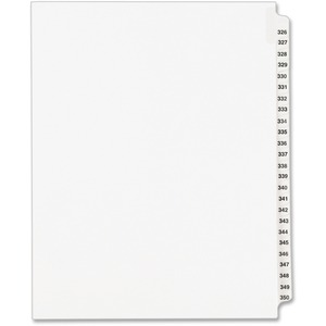 Avery Legal Exhibit Reference Divider AVE01343