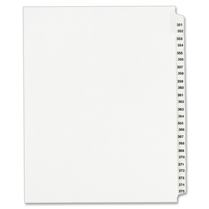Avery Legal Exhibit Reference Divider AVE01344