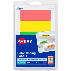 Avery Print or Write Color Coding Label AVE05481