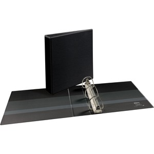 "Avery Durable Slant Ring Reference View Binder - Letter - 8.5"" x 11"" - 480 Sheet x 2"" Capacity - 1 Each - Black"