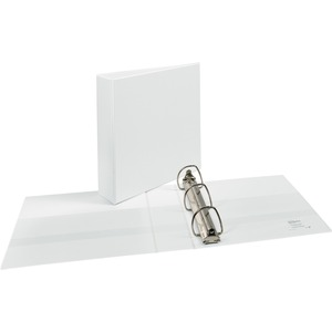 "Avery Durable Slant Ring Reference View Binder - Letter - 8.5"" x 11"" - 480 Sheet x 2"" Capacity - 1 Each - White"