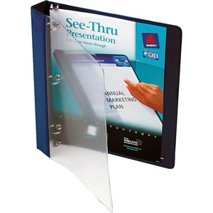 Blue. Clear Front. Presentation Binder