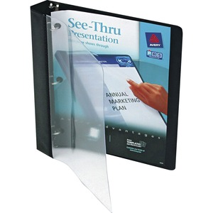 Black . Clear Front. Presentation Binder