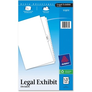 Avery Premium Collated Legal Exhibit Divider AVE11371