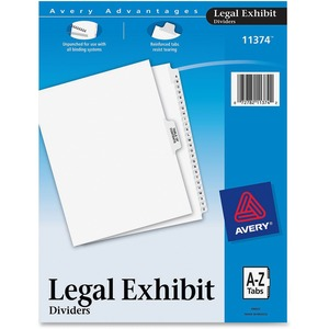 Avery Premium Collated Legal Exhibit Divider AVE11374