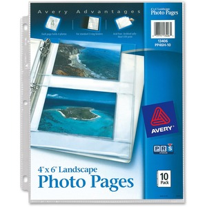 Avery Horizontal Photo Pages3-Ring Binding - 3-Hole Punched