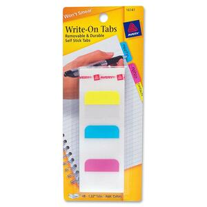 Avery Removable Write-on Tabs AVE16141