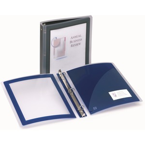 "Avery Flexi-View Presentation Binder - Letter - 8.5"" x 11"" - 175 Sheet x 1"" Capacity - 1 Each - Black"