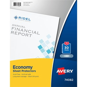 "Avery Sheet Protector - Letter 8.5"" x 11"" - Polypropylene - 30 / Pack - Clear"