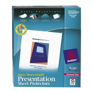 Avery Diamond Clear Top Loading Sheet Protector AVE74130