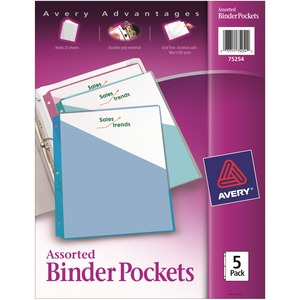 Avery Durable 3-Ring Poly Binder Pocket AVE75254