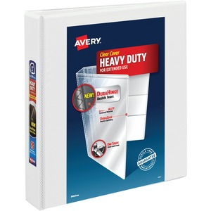 "Avery Heavy-Duty Reference View Binder - Letter - 8.5"" x 11"" - 400 Sheet x 1.5"" Capacity - 1 Each - White"