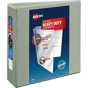 "Avery Heavy-Duty Reference EZD View Binder - Letter - 8.5"" x 11"" - 670 Sheet x 3"" Capacity - 1 Each - Gray"