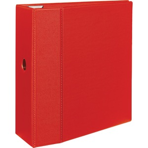 "Avery EZD Heavy-Duty Reference Binder - Letter - 8.5"" x 11"" - 1050 Sheet x 5"" Capacity - 1 Each - Red"