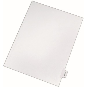 Avery Legal Exhibit Index Divider AVE82108