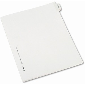 "Avery Legal Exhibit Index Divider - 1 x Divider Printed J - 8.5"" x 11"" - 25 / Pack - White Divider"