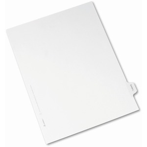 Avery Legal Exhibit Index Divider AVE82118