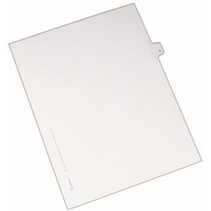 Avery Legal Exhibit Index Divider AVE82131