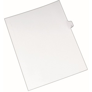 "Avery Individual Legal Tab Divider - 1 x Tab Printed J - 8.5"" x 11"" - 25 / Pack - White Divider"