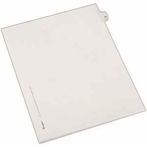"Avery Side-Tab Legal Index Divider - 1 x Tab Printed 23 - 8.5"" x 11"" - 25 / Pack - White Divider - White Tab"