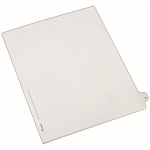 "Avery Side-Tab Legal Index Divider - 1 x Tab Printed 77 - 8.5"" x 11"" - 25 / Pack - White Divider - White Tab"