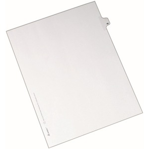 "Avery Side-Tab Legal Index Divider - Printed 96 - 8.5"" x 11"" - 25 / Pack - White Divider - White Tab"