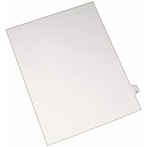 "Avery Side-Tab Legal Index Divider - 1 x Tab Printed 97 - 8.5"" x 11"" - 25 / Pack - White Divider - White Tab"