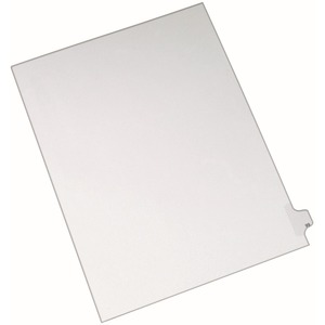"Avery Side-Tab Legal Index Divider - 1 x Tab Printed 99 - 8.5"" x 11"" - 25 / Pack - White Divider - White Tab"