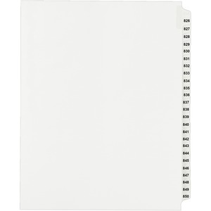 Avery Side Tab Collated Legal Index Divider AVE82312