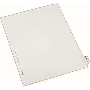 "Avery Individual Side Tab Legal Exhibit Dividers - 1 x Tab Printed Exhibit 11 - 25 Tab(s)/Set - 8.5"" x 11"" - 25 / Pack - White Divider"
