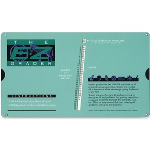 "Advantus EZ Grader Chart - 4.75"" x 8.5"" Sheet Size - 1Each"