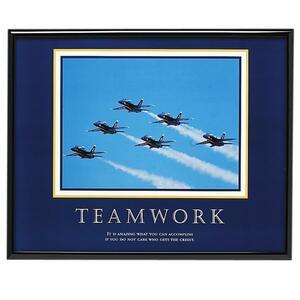 Teamwork Framed Print