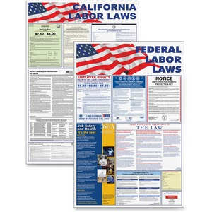 "Advantus Federal and State Labor Law Poster - 24"" Width x 36"" Height - Assorted"