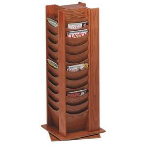 Buddy 48-Pocket Wood Rotating Literature Rack BDY61511