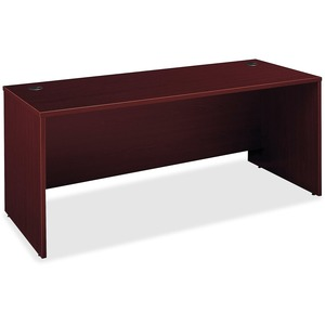 "Bush Series C Manager Desk - 71"" Width x 29.37"" Depth x 30"" Height - Pressboard - Mahogany"