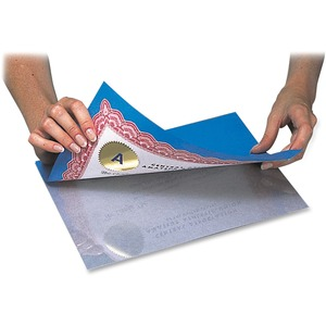 "C-line Cleer-Adheer Laminating Sheets - 9"" Width x 12"" Length x 2mil - Tear Resistant - 50 / Box - Clear"