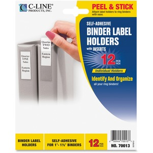 Self-Adhesive Binder Label Holder