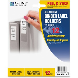 C-line Self-Adhesive Binder Label Holders CLI70023
