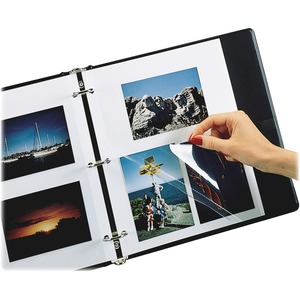 "C-line Redi-Mount Photo Holders - 11"" x 9"" - 3-Ring Binding - 3-Hole Punched"