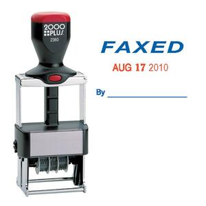 COSCO ClassiX Self-Inking FAXED Message/Date Stamp COS032879