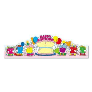 Carson-Dellosa Birthday Crown - Happy Birthday Preprinted - 30 / Pack - Assorted