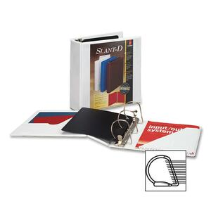 "Cardinal ClearVue Slant-D Presentation Binder - Letter - 8.5"" x 11"" - 375 Sheet x 2"" Capacity - 1 Each - White"