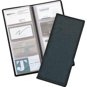 Cardinal Westport Sewn Vinyl 96 Card Files - 96 Capacity