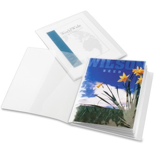 "Cardinal ClearThru ShowFile Custom Display Book - Letter - 8.5"" x 11"" - 24 Sheet Capacity - 1 Each - Clear"