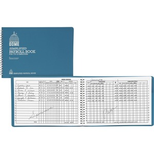 "Dome Publishing Payroll Book - Wire Bound - 7.5"" x 10.5"" Sheet Size - 1Each"