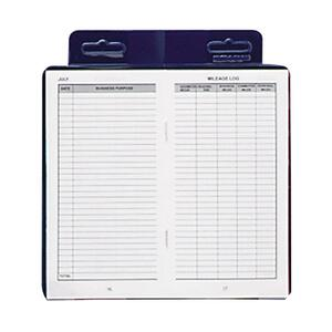"Dome Publishing Deluxe Auto Mileage Log Book - 6.25"" x 3.25"" Sheet Size - White - 1Each"