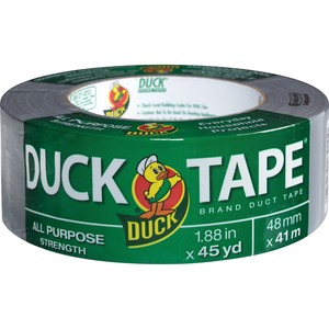 "Duck Duck All Purpose Tape - 1.88"" Width x 45yd Length - 3"" Core - Cloth - 1 Roll - Silver"