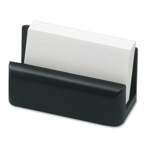 Rolodex Wood Tones Card Holder - Wood - 1 Each - Black